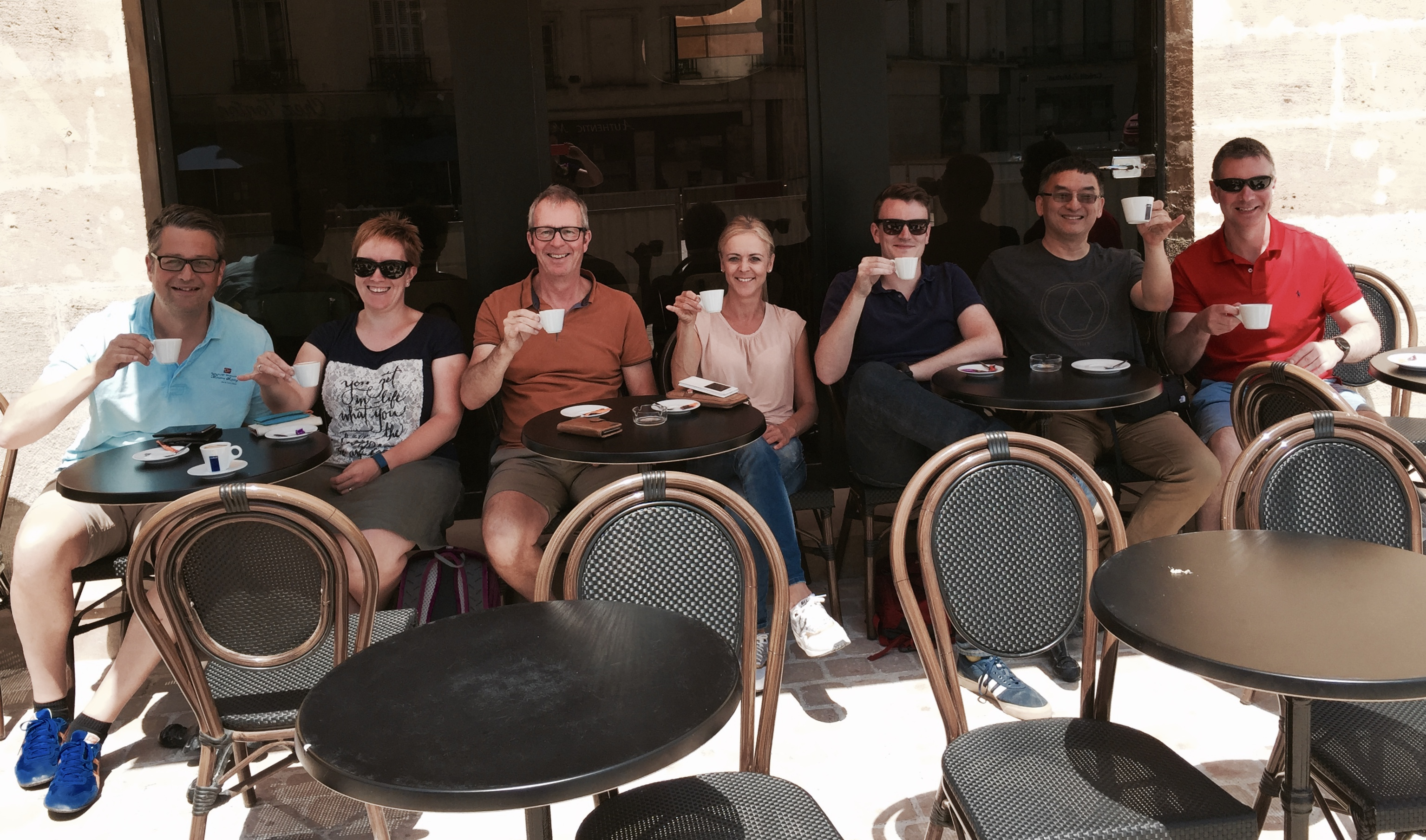 Coffee break at CLE a French language school